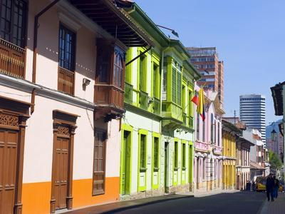 Colourful Houses, Bogota, Colombia, South America