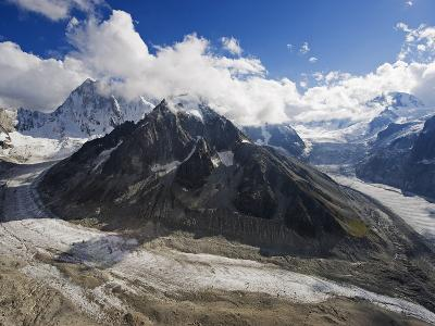 Mer De Glace Glacier, Mont Blanc Range, Chamonix, French Alps, France, Europe