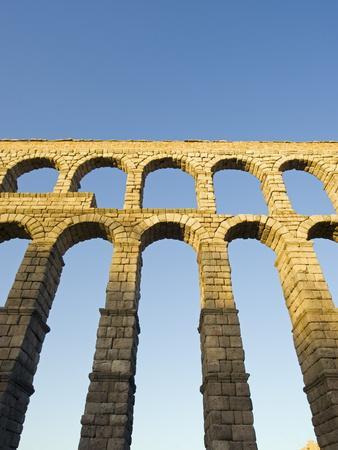The 1St Century Roman Aqueduct, Segovia, Madrid, Spain, Europe