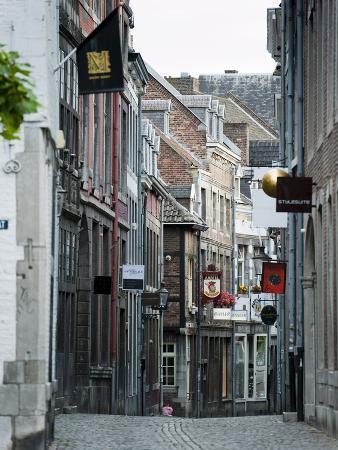 Stokstraat (Stok Street), Maastricht, Limburg, the Netherlands, Europe