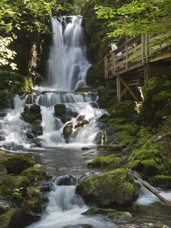 Dickson Falls in Fundy National Park, New Brunswick, Canada, North America
