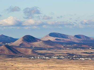 Cinder Cones in the Centre of the Island Near Tinajo, a Relic of the Island's Active Volcanic Past