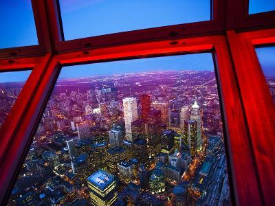 View of Downtown Toronto Skyline Taken From Cn Tower, Toronto, Ontario, Canada, North America