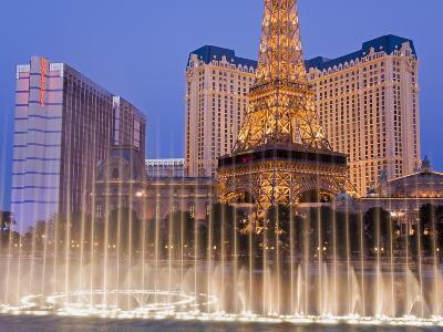 Bally's and Paris Casinos, Las Vegas, Nevada, United States of America, North America