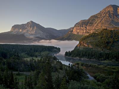 Dawn at Swiftcurrent Creek, Glacier National Park, Montana, USA