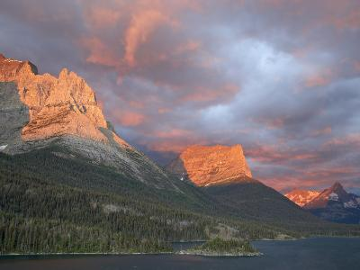 Coulds at Dawn, St. Mary Lake, Glacier National Park, Montana