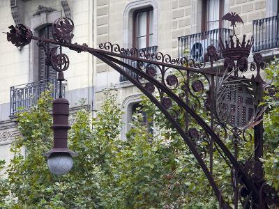 Modernista Lampost on Passeig De Gracia, Barcelona, Catalonia, Spain, Europe