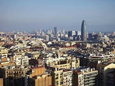 View From the Top of the Sagrada Familia, Barcelona, Catalonia, Spain, Europe