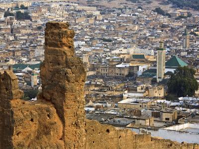 Elevated View Over the Medina, Fez (Fes), Morocco, North Africa, Africa