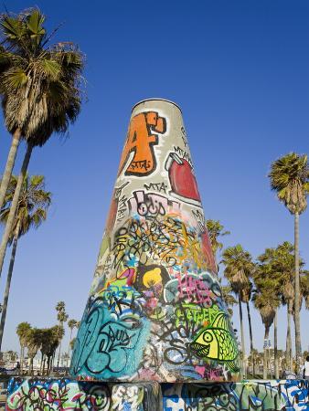 Art Walls, Legal Graffiti, on Venice Beach, Los Angeles, California, USA