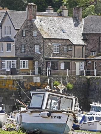 Boats in Harbour, Porlock Weir, Somerset, England, United Kingdom, Europe