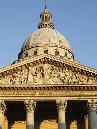 Dome, Pediment and Columns of the Pantheon, Paris, France, Europe