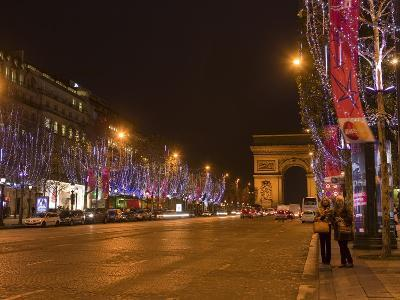 Champs Elysees at Christmas Time, Paris, France, Europe