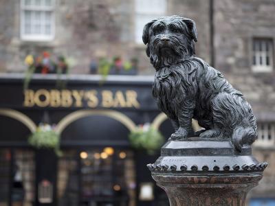 Greyfriars Bobby, Edinburgh, Scotland, Uk