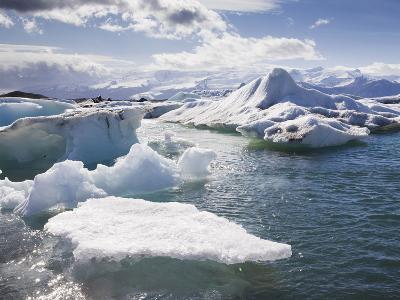 Icebergs in Glacial Lagoon at Jokulsarlon, Iceland, Polar Regions