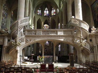 Interior of Saint-Etienne-Du-Mont Church, Paris, France, Europe