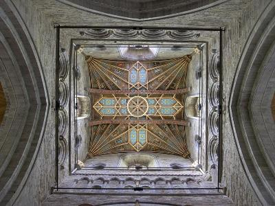 Tower Lantern Ceiling, St. Davids Cathedral, Pembrokeshire National Park, Wales