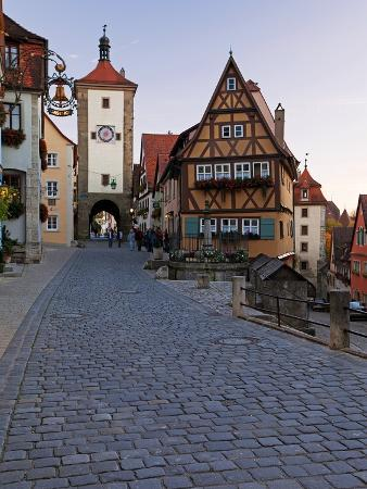 Ploenlein, Siebers Tower, Rothenburg Ob Der Tauber, Franconia, Bavaria, Germany, Europe