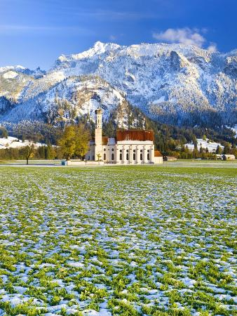 St. Coloman Church, Oberbayern, Bavaria, Germany, Europe
