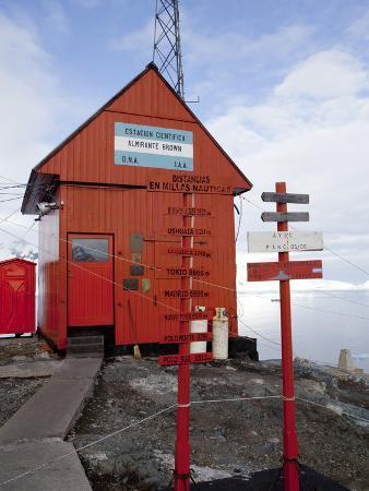 Argentina Research Station, Paradise Bay, Antarctic Peninsula, Antarctica, Polar Regions