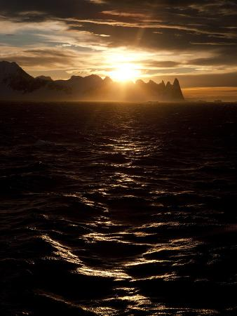 Sunrise at Gerlach Strait, Antarctica, Polar Regions