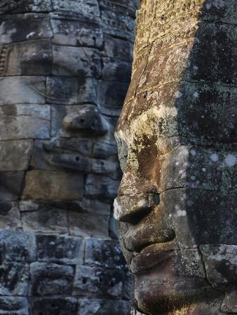 Stone Faces, Which May Depict Jayavarman VII As a Bodhisattva, Bayon Temple, Angkor Thom, Cambodia