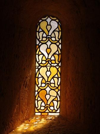 Stained Glass, Thoronet Abbey Church, Thoronet, Var, Provence, France, Europe