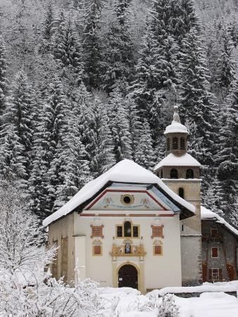 Notre Dame De La Gorge Church, Les Contamines, Haute Savoie, France, Europe