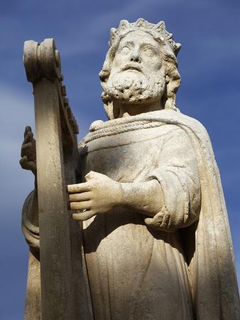David Statue in Salon De Provence, Bouches Du Rhone, France, Europe