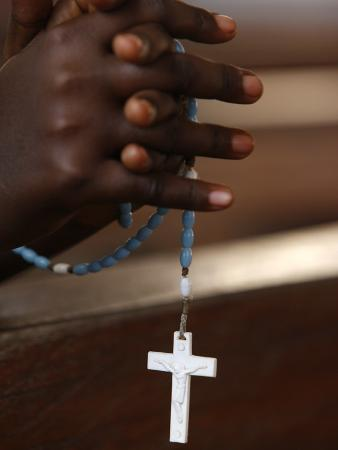 Prayer Beads, Togoville, Togo, West Africa, Africa