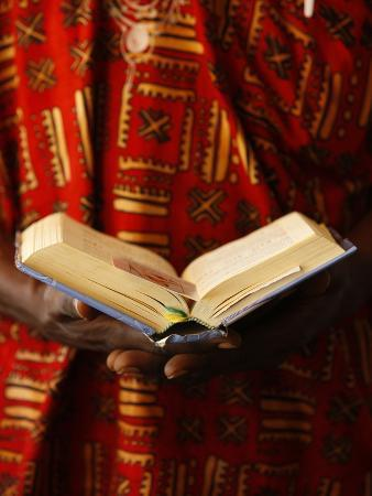 Bible Reading, Lome, Togo, West Africa, Africa