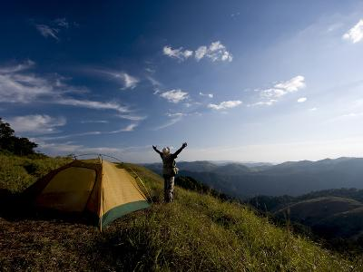 Camping, Gavi, Periyar Tiger Reserve, Kerala, India, Asia