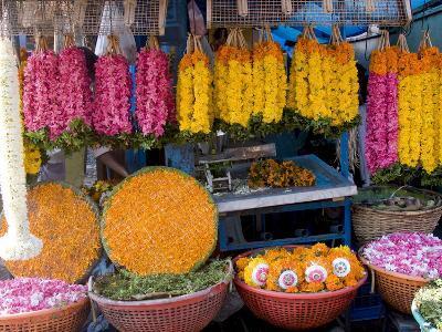 Flower Shop, Chalai, Trivandrum, Kerala, India, Asia