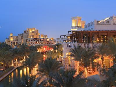 Arabesque Architecture of the Madinat Jumeirah Hotel at Dusk, Jumeirah Beach, Dubai, Uae