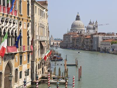 The Grand Canal and the Domed Santa Maria Della Salute, Venice, Veneto, Italy