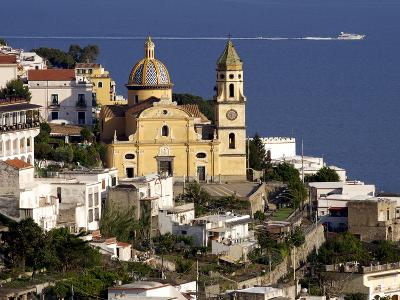 The Church San Gennaro, Praiano, Amalfi Coast, Campania, Italy, Europe