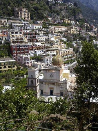 San Luca Church in the Village of Praiano, Amalfi Coast, Campania, Italy, Europe