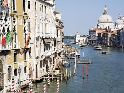The Grand Canal and Church of Santa Maria Della Salute, Venice, Veneto, Italy, Europe