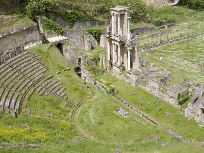 Roman Theater, Volterra, Tuscany, Italy, Europe