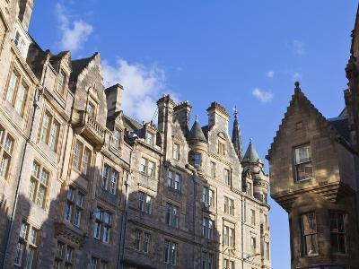 Buildings in the Old Town, Edinburgh, Lothian, Scotland, Uk
