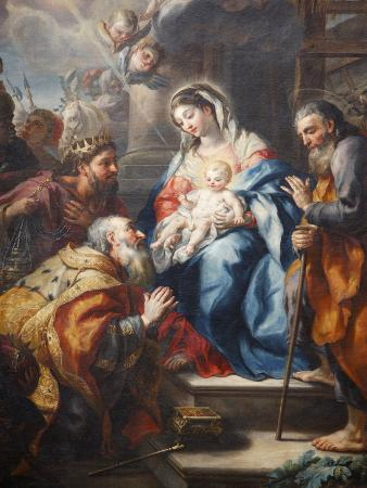 The Adoration of the Magi By J.M. Rottmayr Dating From 1723, Melk Abbey, Lower Austria, Austria