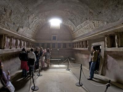Terracotta Telamons in the Tepidarium in the Forum Baths, Pompeii, UNESCO World Heritage Site