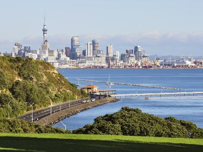 Okahu Bay and Skyline, Auckland, North Island, New Zealand, Pacific