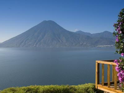 Lake Atitlan From Lomas De Tzununa Hotel with San Pedro Volcano in the Background, Guatemala