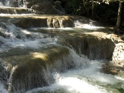 Terraces of Calcite Travertine Forming the Dunn's River Falls, Near Ocho Rios, North Coast, Jamaica