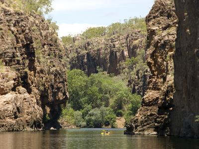 Nitmiluk Gorge in Hard Sandstone, Katherine, Northern Territory, Australia, Pacific