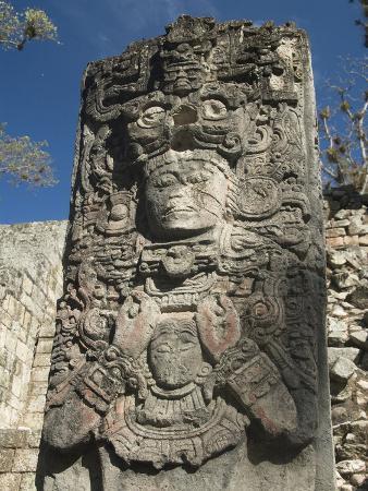 West Court, Stela P, Copan Archaeological Park, Copan, UNESCO World Heritage Site, Honduras