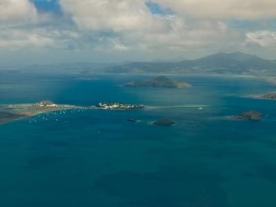 Aerial View of the Island of Grand Terre, French Departmental Collectivity of Mayotte, Africa