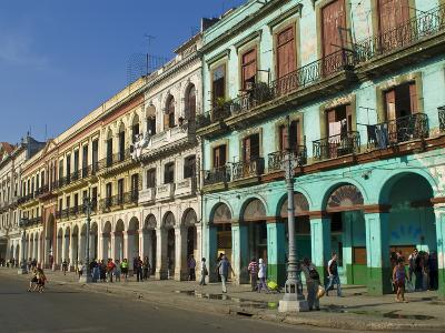 Old Colonial Houses in the Center of Havana, Cuba, West Indies, Caribbean, Central America