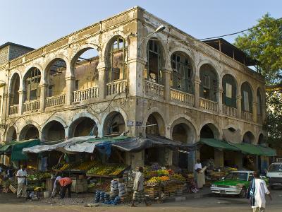 Old Destroyed Italian Colonial Building, Djibouti, Republic of Djibouti, Africa
